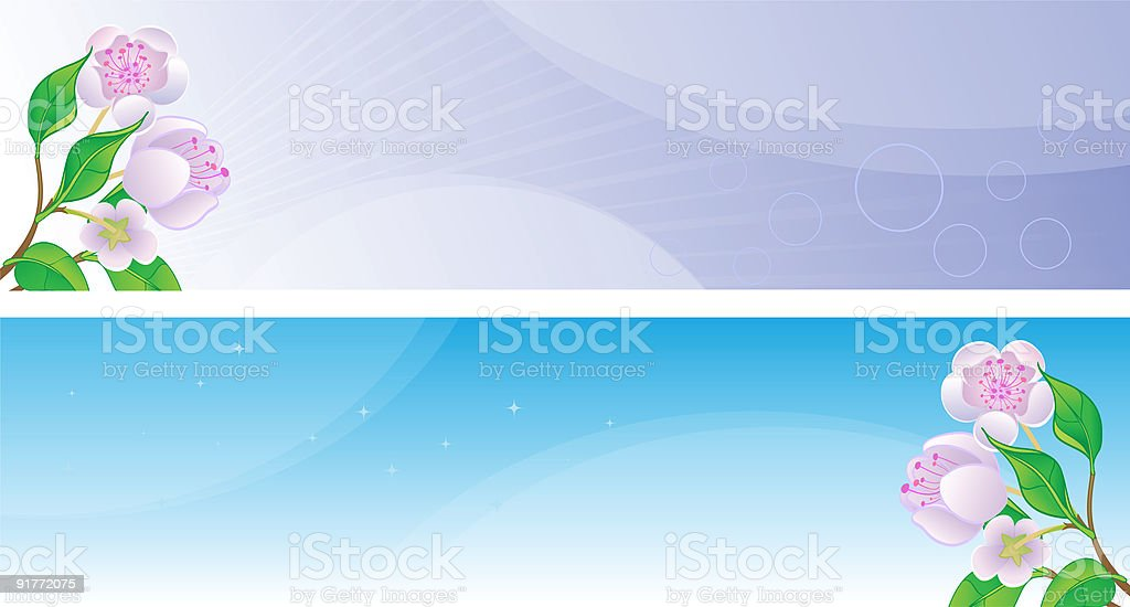 Spring banners or poster. royalty-free stock vector art