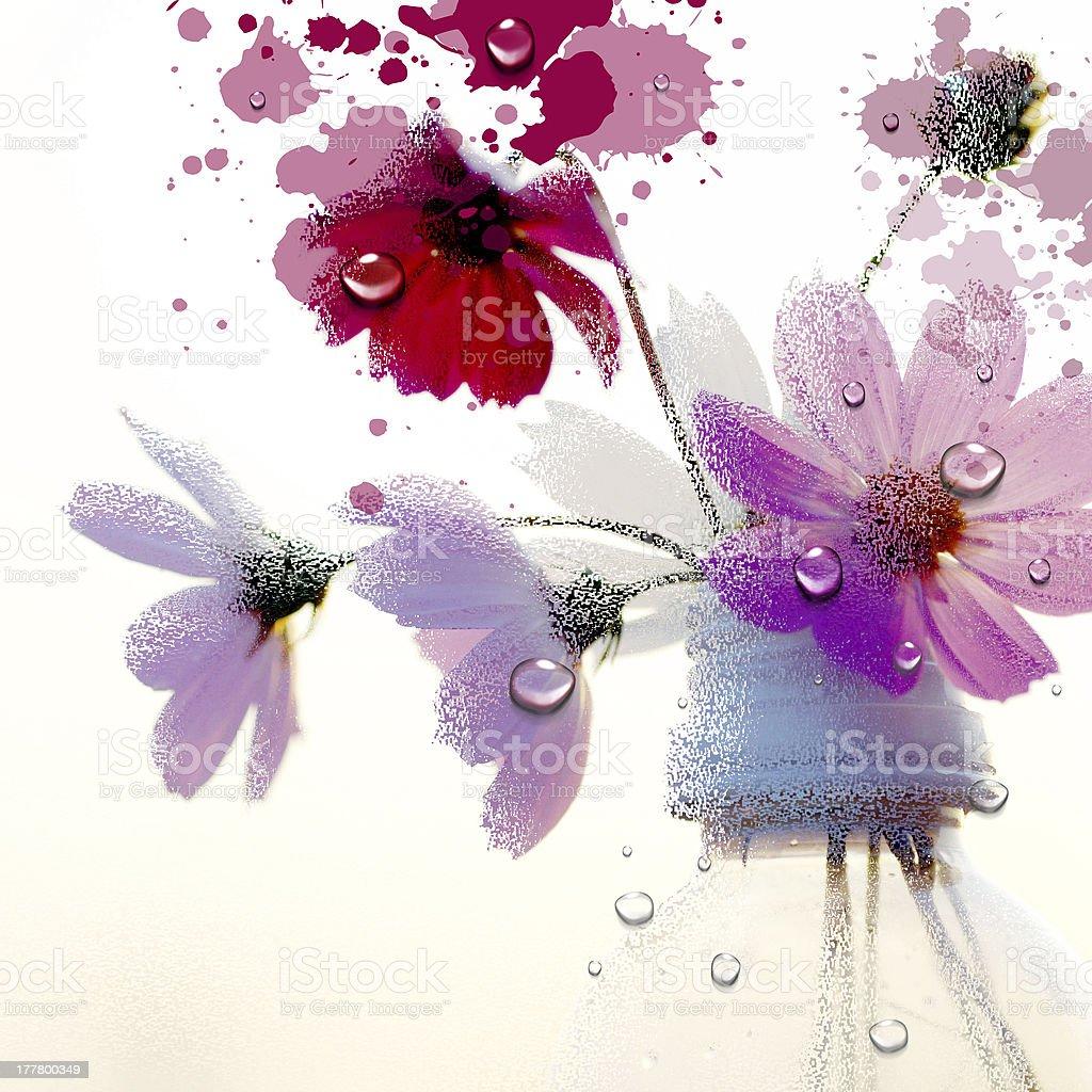 Le printemps éclot Gouache fleur stock vecteur libres de droits libre de droits