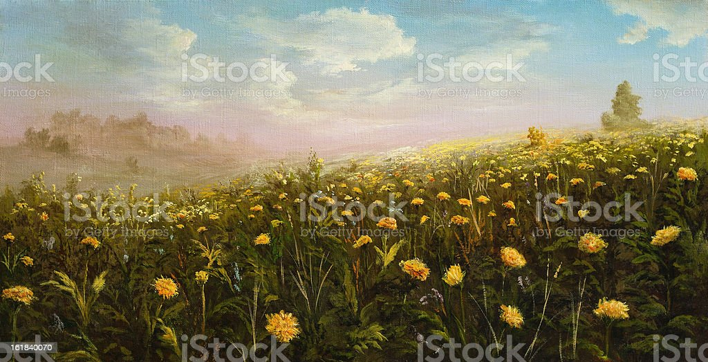 Spring dandelions royalty-free stock vector art