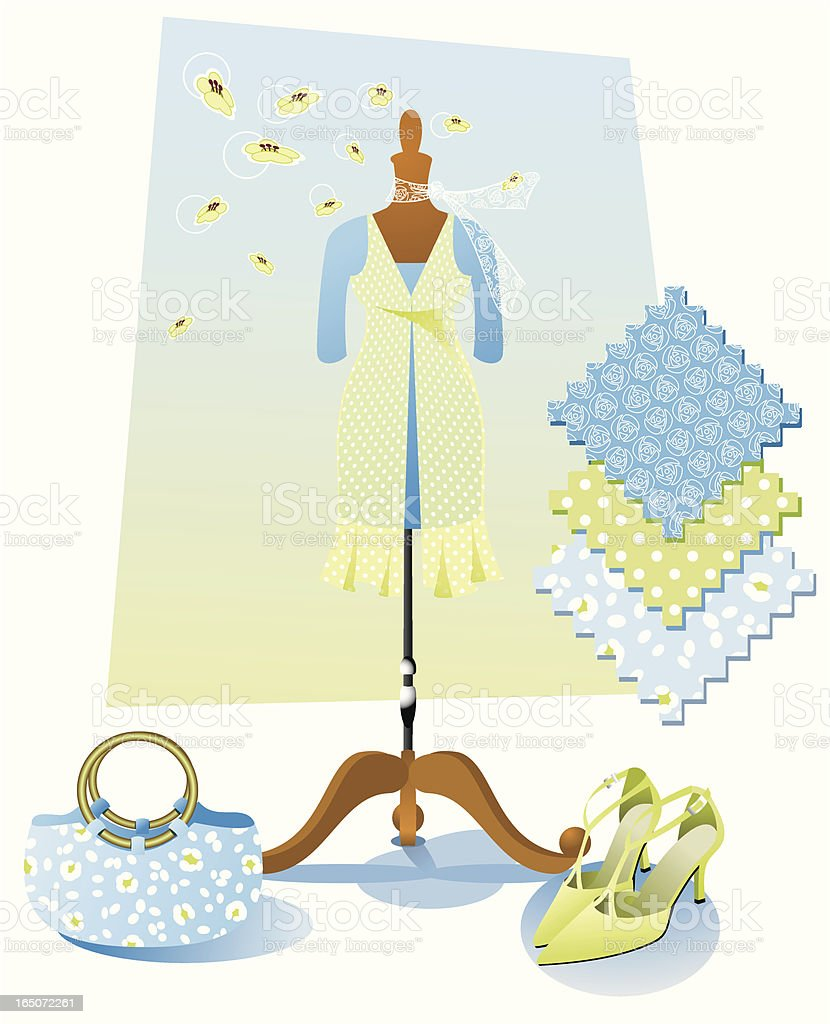 Spring fashion royalty-free stock vector art