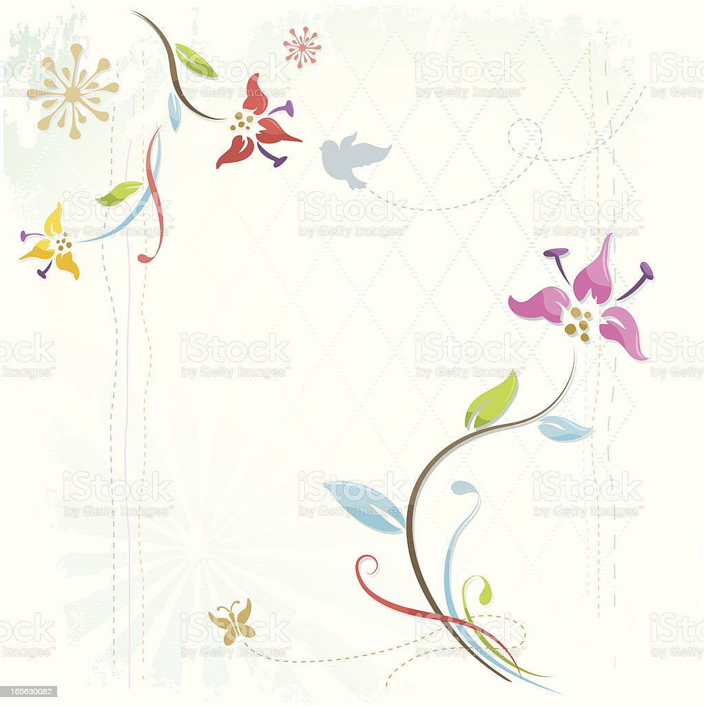 Spring flower background vector art illustration