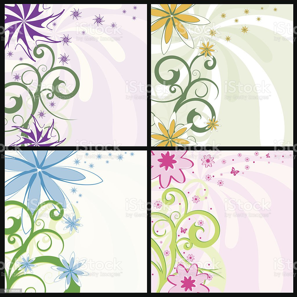 Spring flower backgrounds royalty-free stock vector art