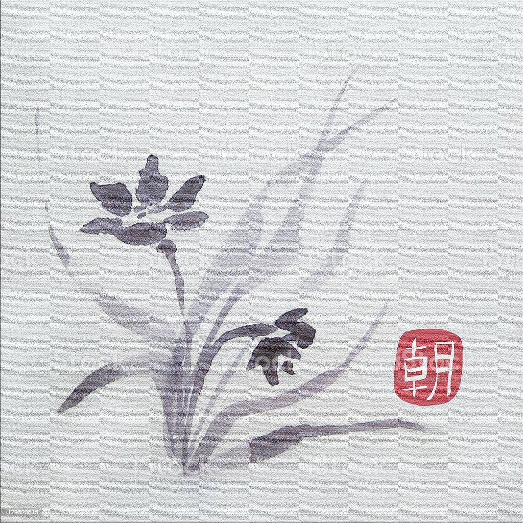 Spring flower vector art illustration