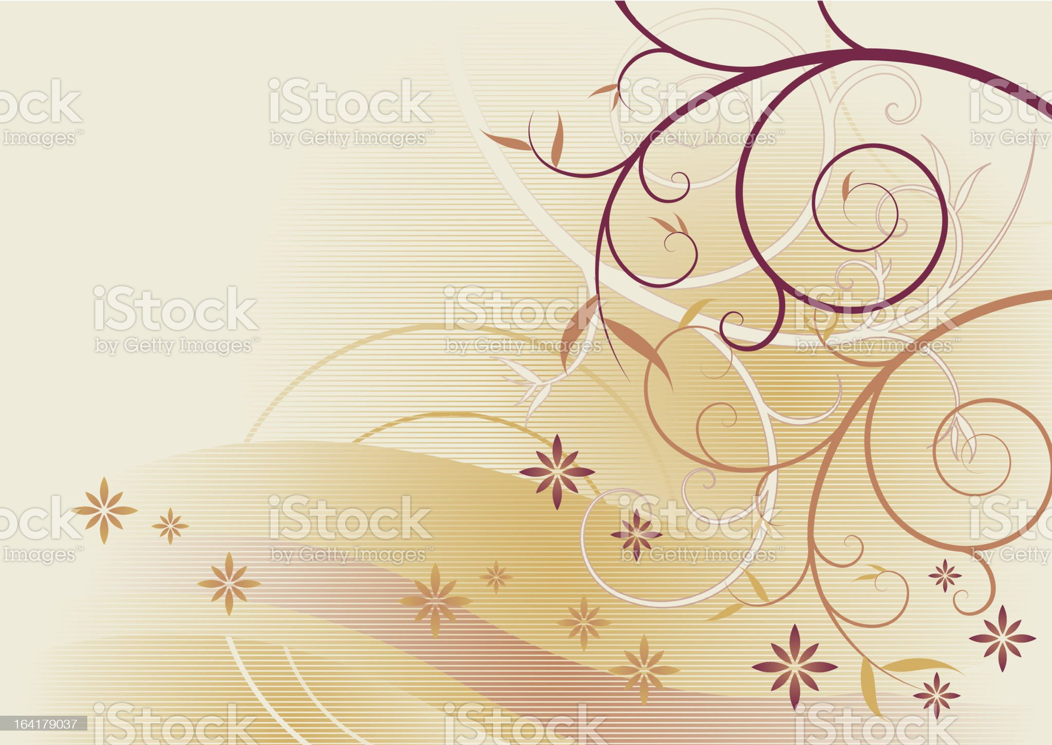 Spring flower spiral background royalty-free stock vector art