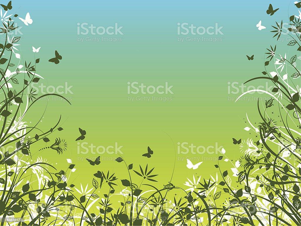 Spring foliage royalty-free stock vector art