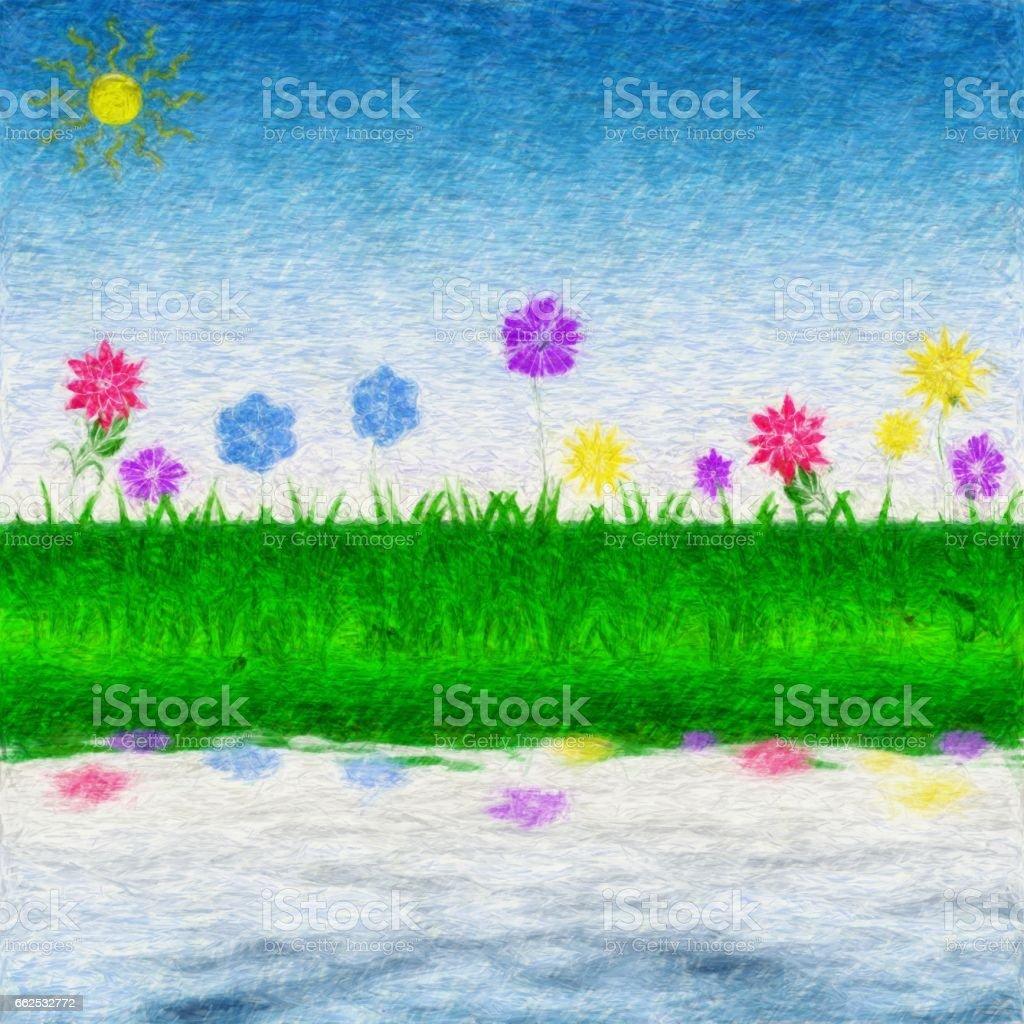 Spring or Summer flora vector art illustration