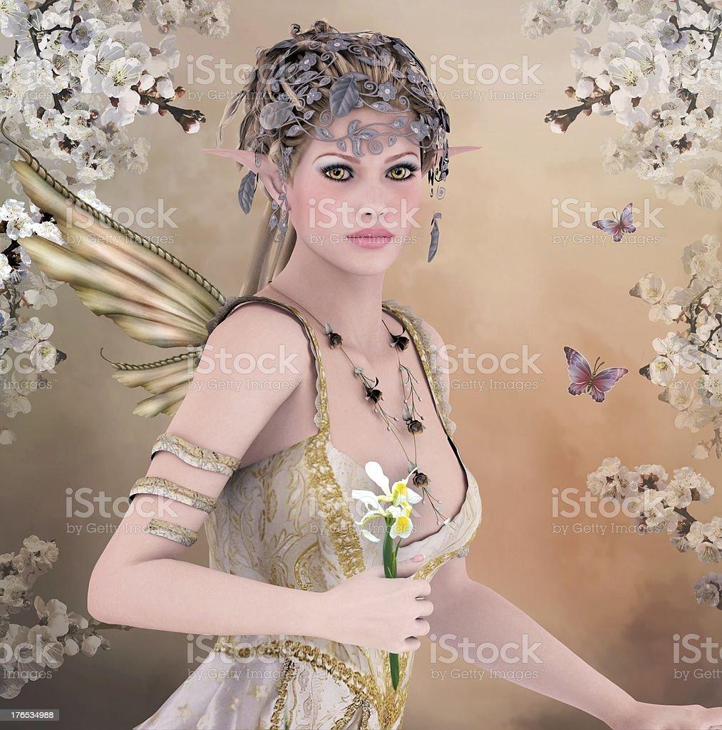 Spring queen royalty-free stock vector art