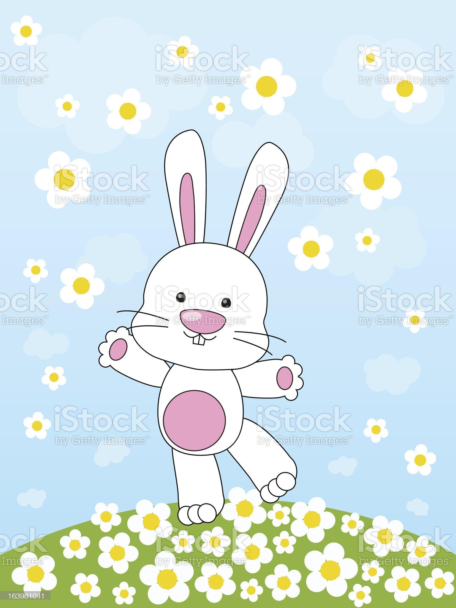 Spring rabbit royalty-free stock vector art