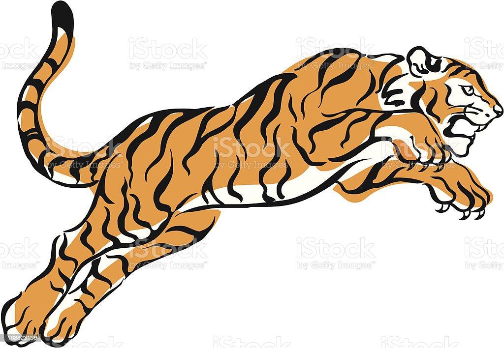 springender Tiger vector art illustration