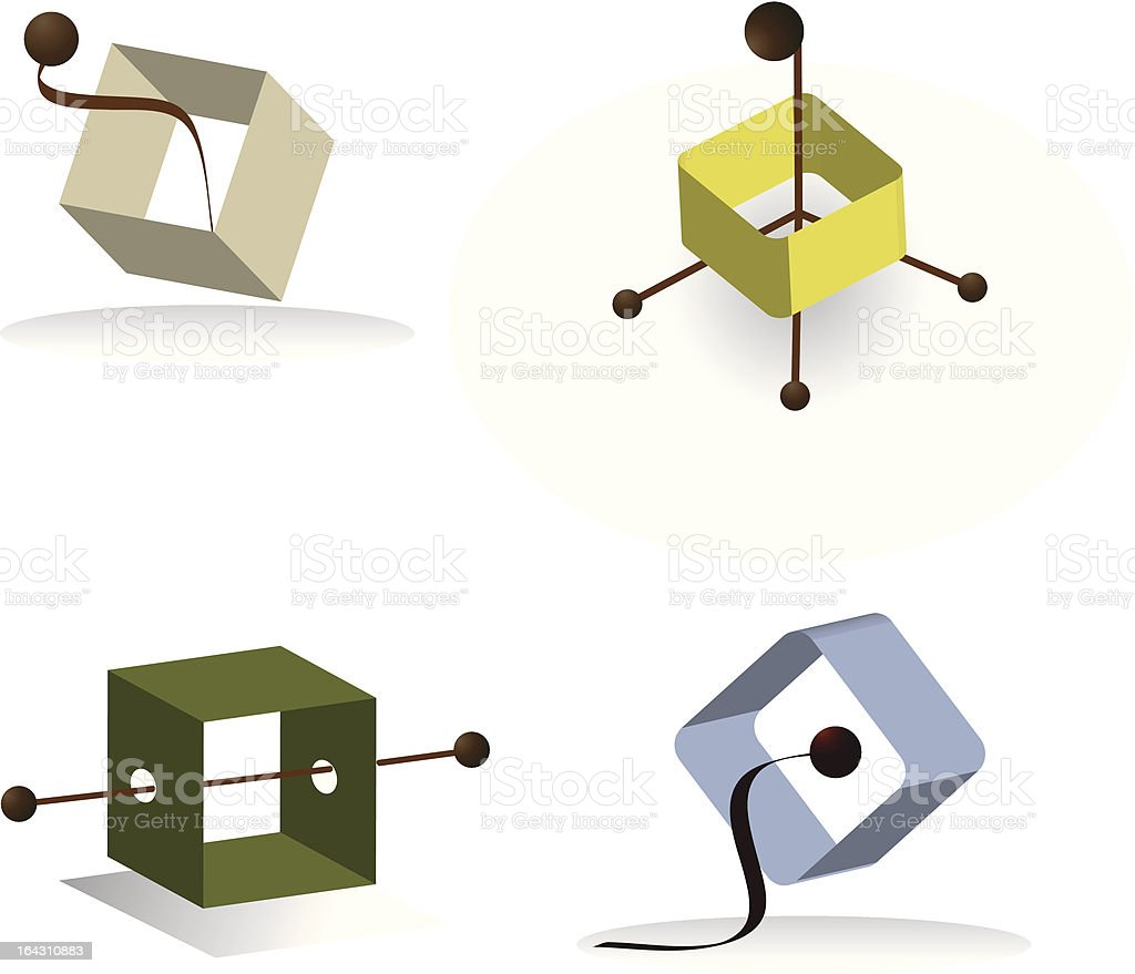 Square Abstract Elements royalty-free stock vector art