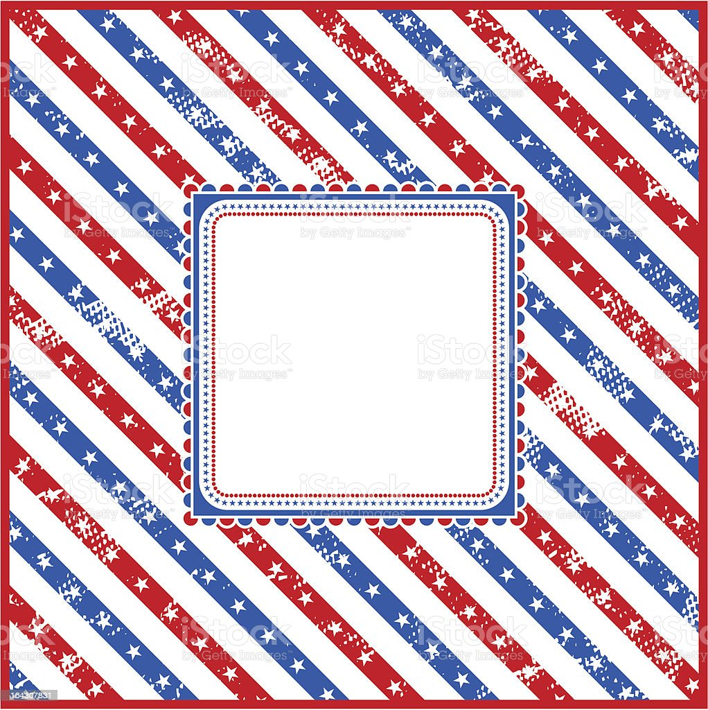 USA square background with label and stars. royalty-free stock vector art