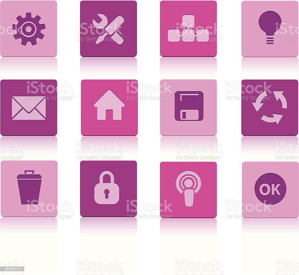 Plac komputer ikony Purple stockowa ilustracja wektorowa royalty-free