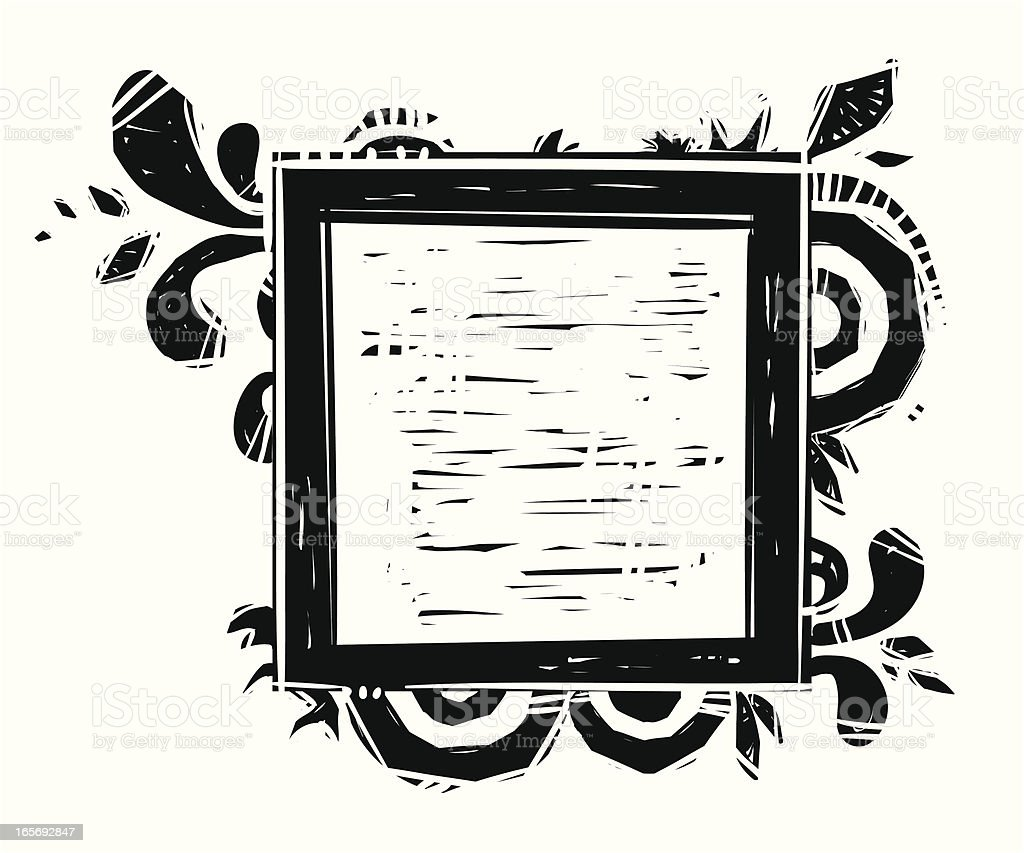 Square Frame royalty-free stock vector art