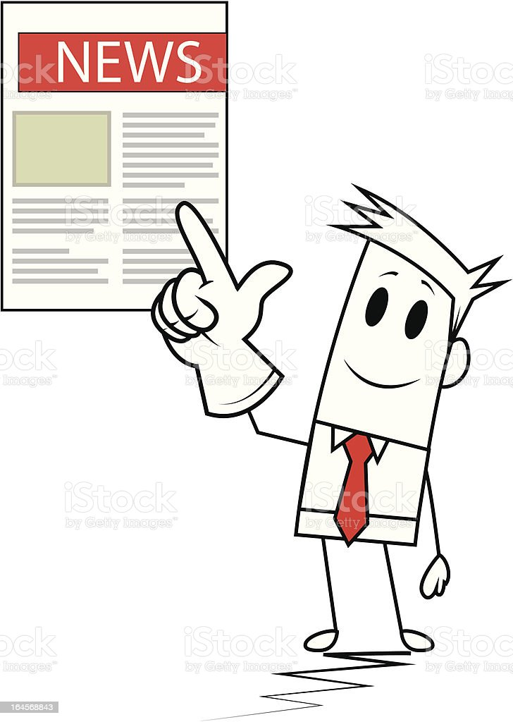 Square guy-Newspaper royalty-free stock vector art