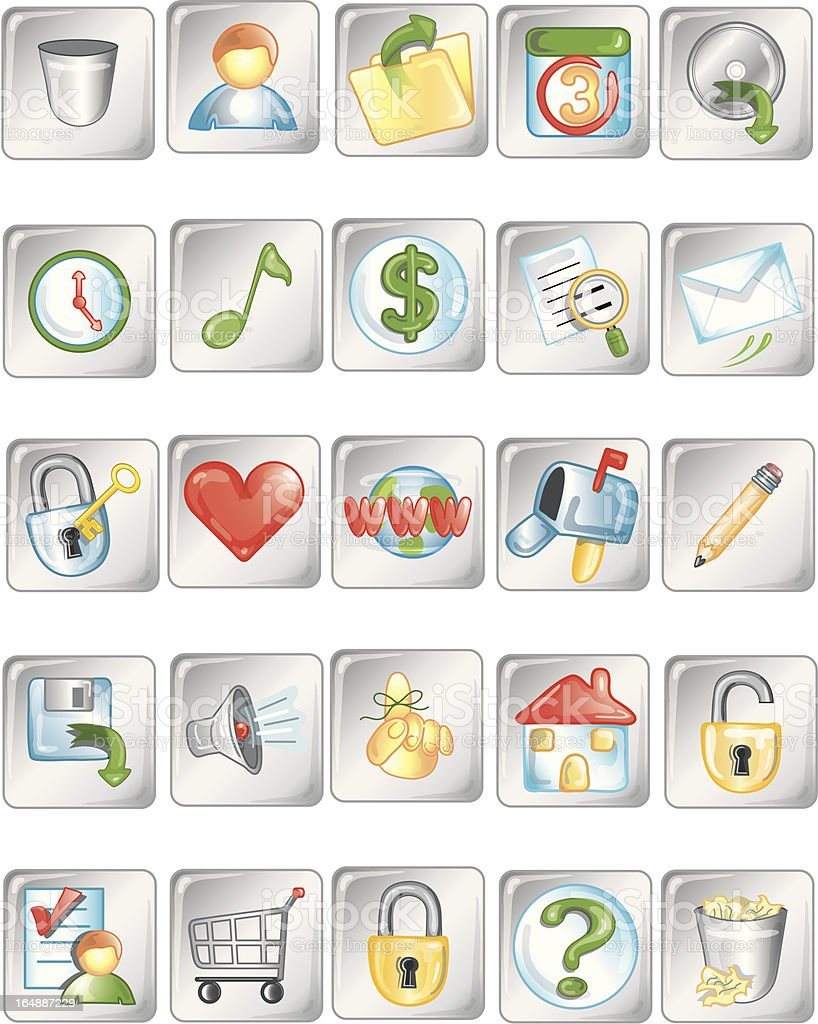 Square icons 2 royalty-free stock vector art