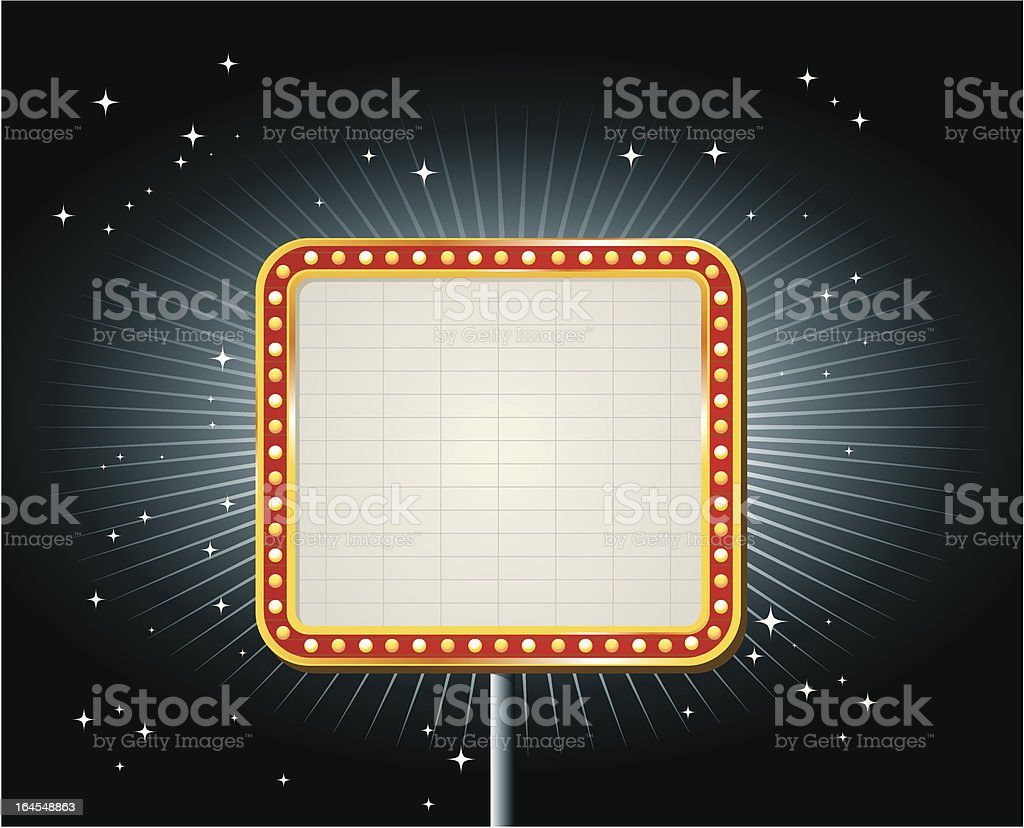 Square Neon Sign royalty-free stock vector art