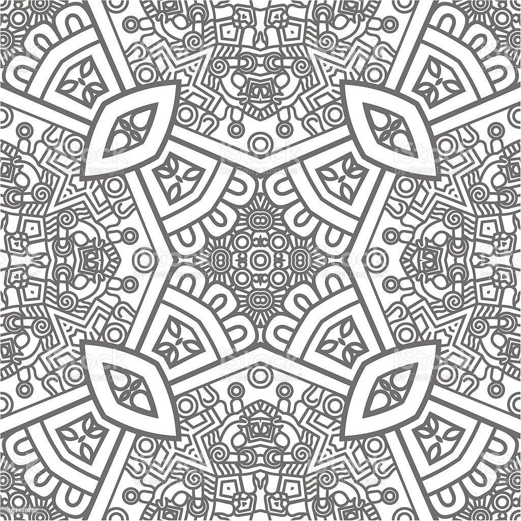 Square ornamental pattern royalty-free stock vector art
