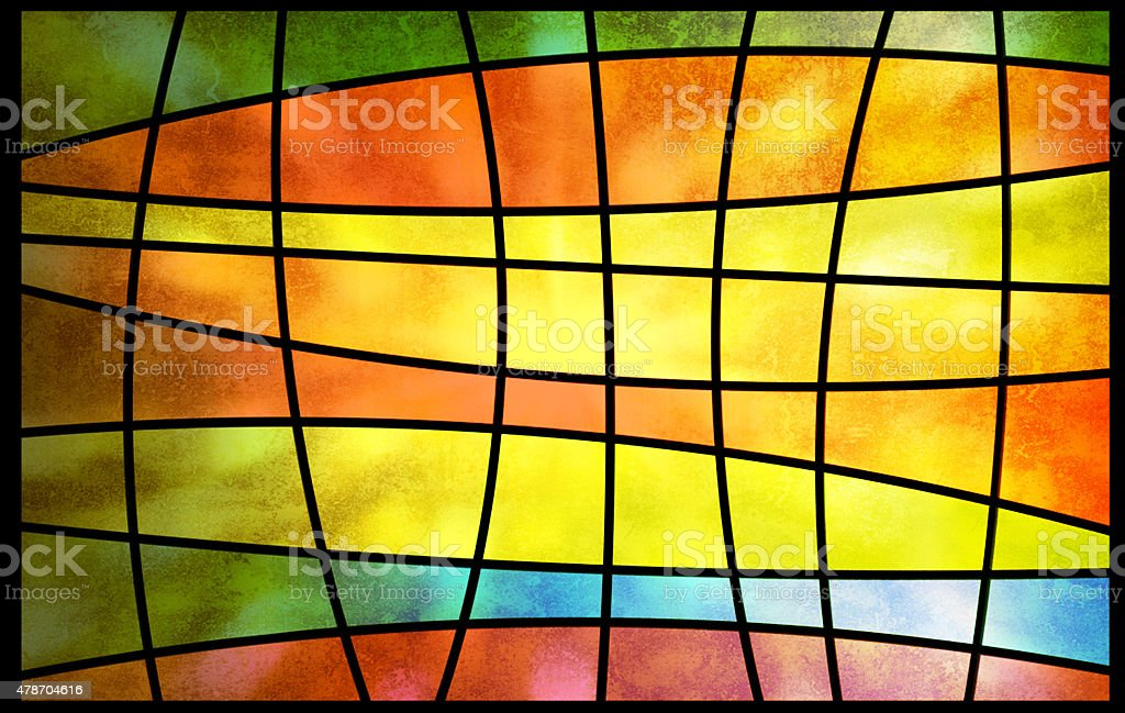 Square pattern background vector art illustration