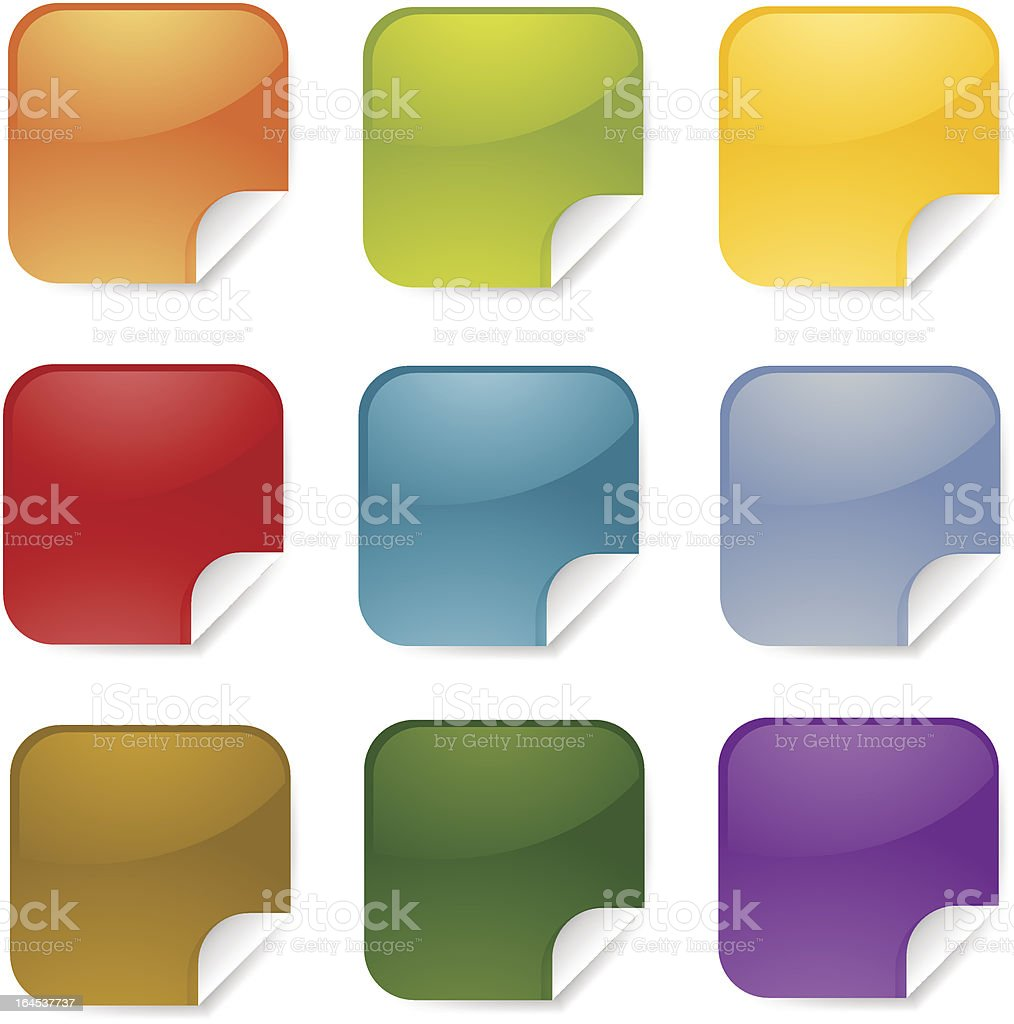 Square stickers royalty-free stock vector art