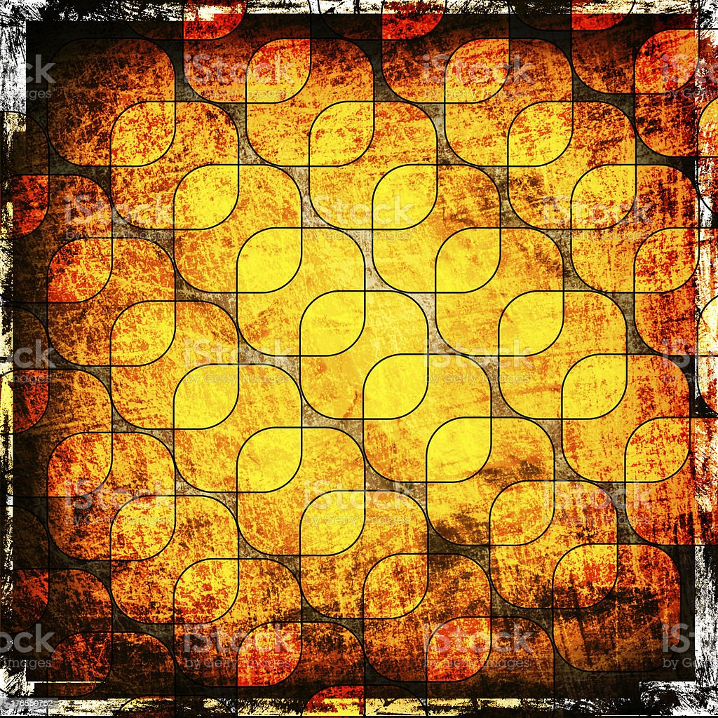 squares on the grunge background royalty-free stock vector art