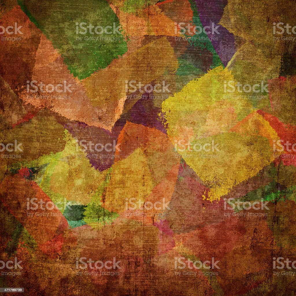 squares on the grunge wall royalty-free stock vector art