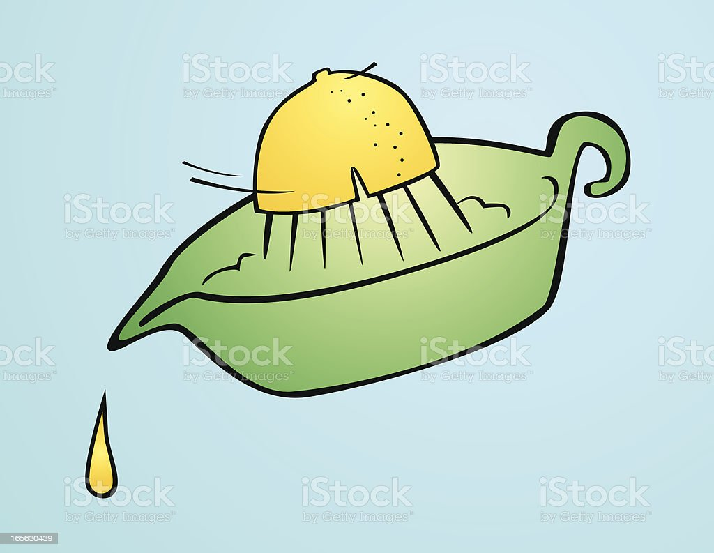 squeezed lemon royalty-free stock vector art