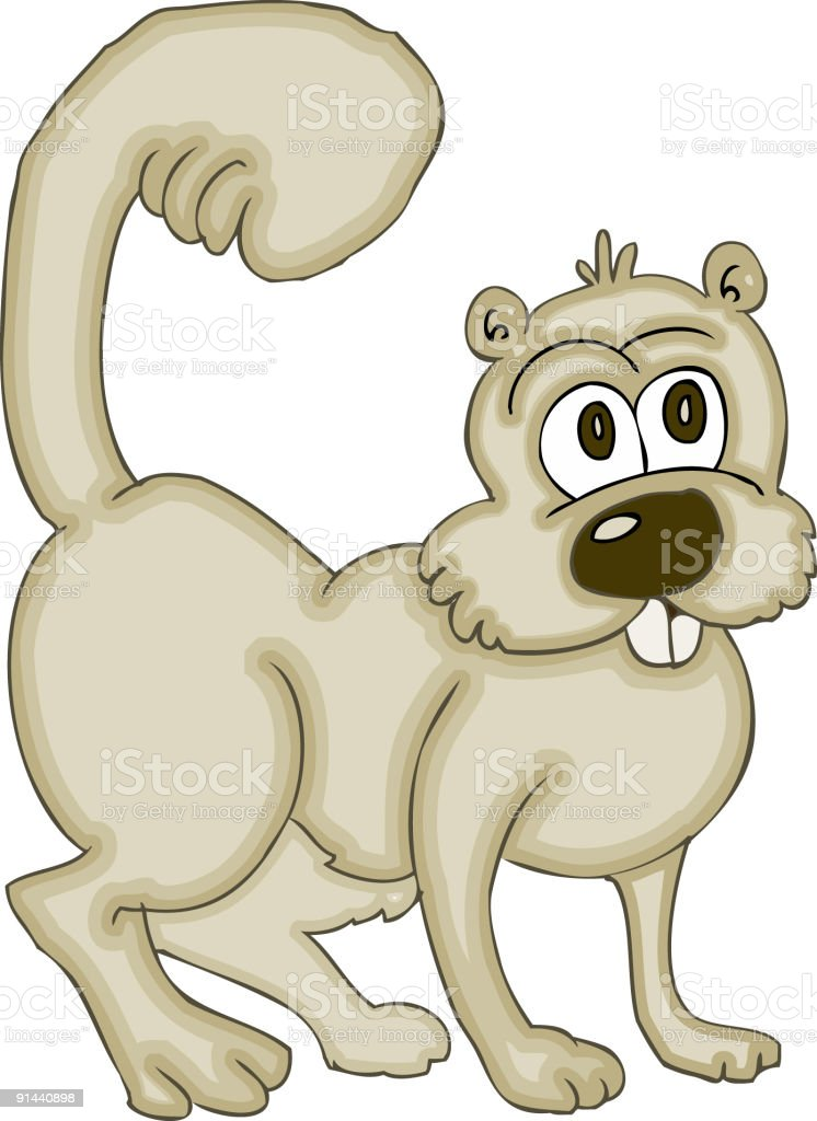Squirrel Cartoon royalty-free stock vector art