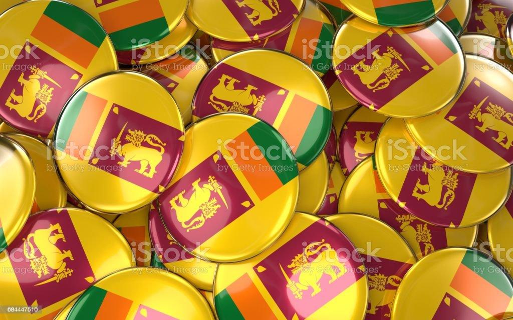 Sri lanka Badges Background vector art illustration