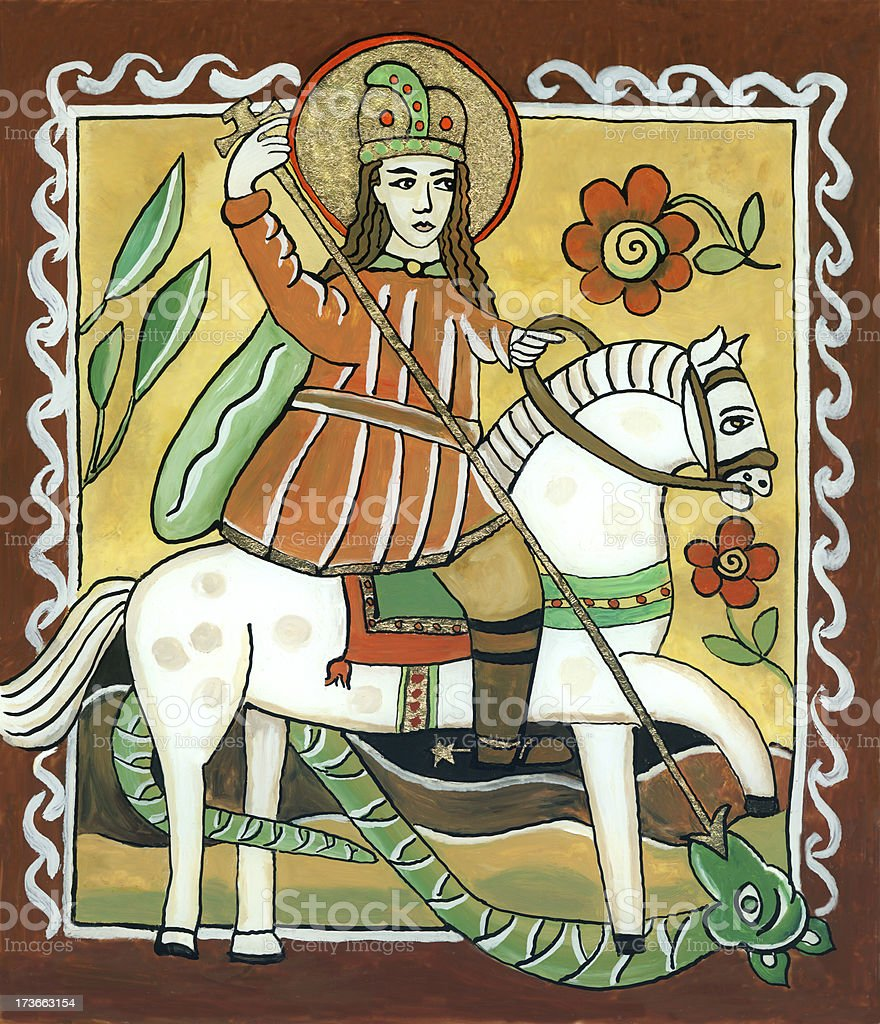 St. George vector art illustration