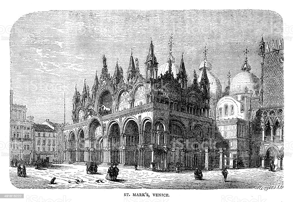 St Mark's Basilica vector art illustration