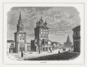 St Nicholas in Kremlin, Moscow, Russia, published in 1871
