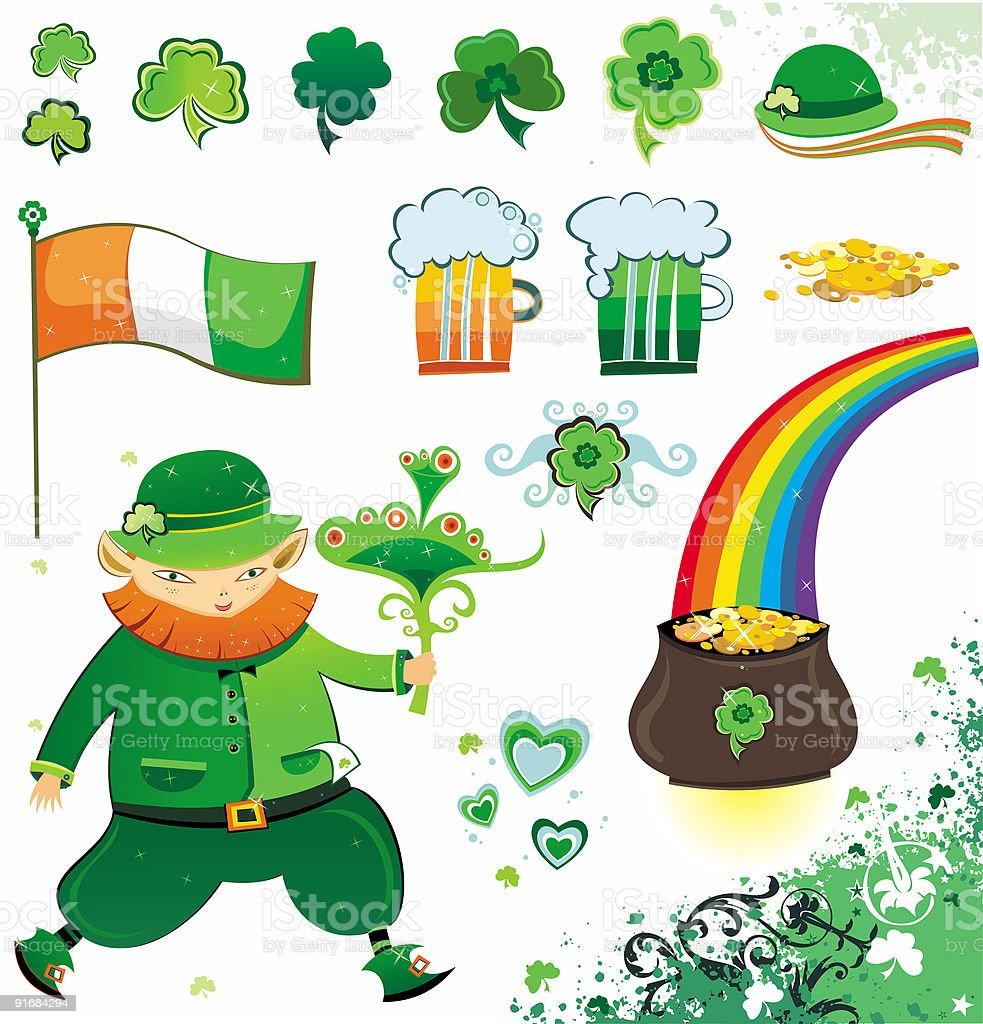 St. Patrick's Day - design elements royalty-free stock vector art