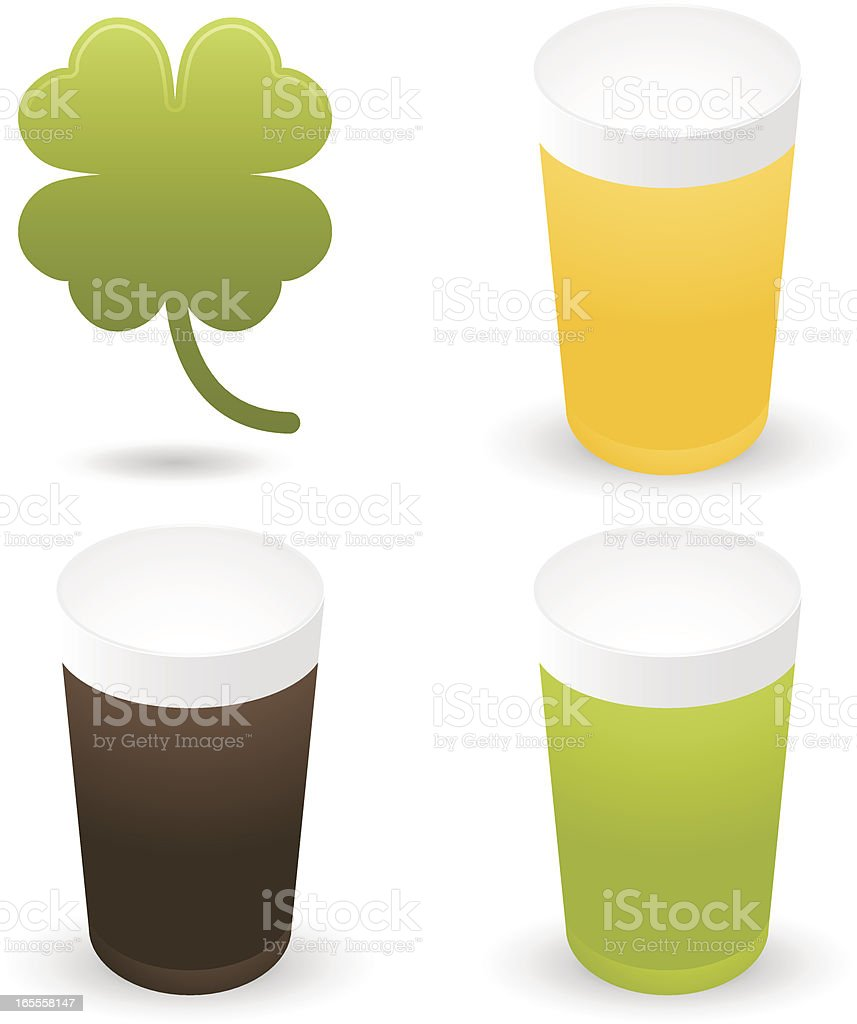 St Patricks Day Icons vector art illustration
