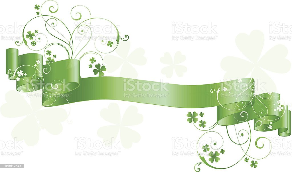 St. Patricks Day ribbon royalty-free stock vector art