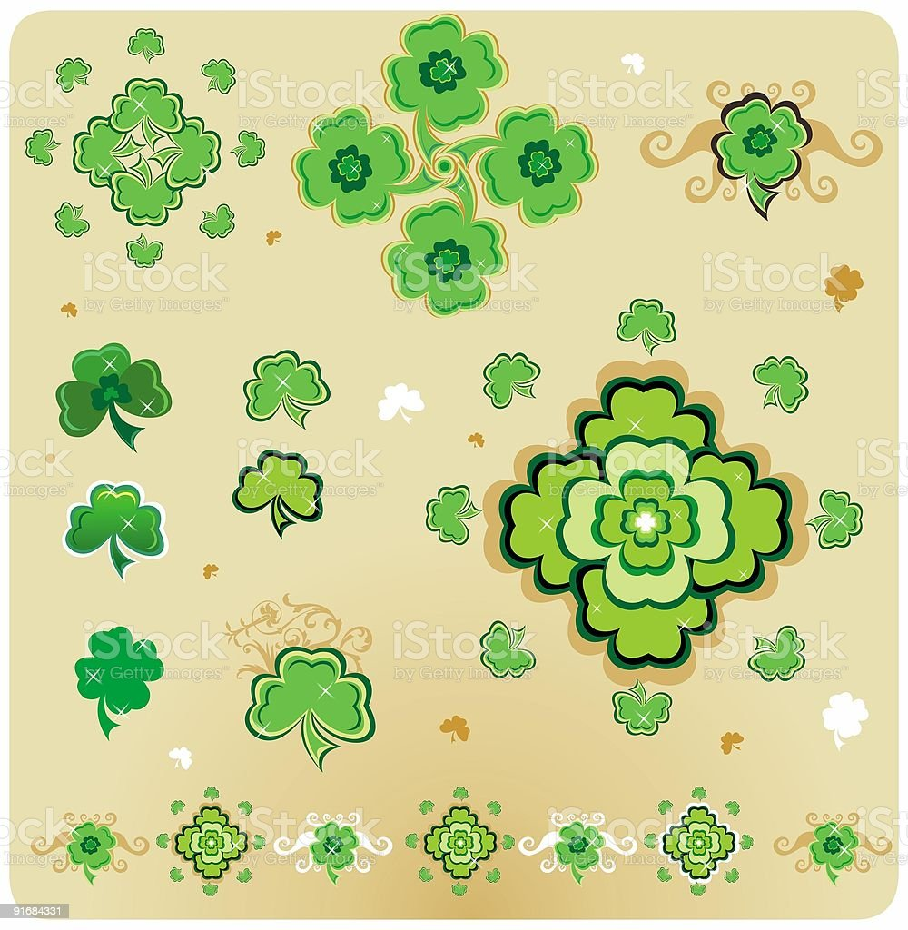 St. Patrick's Day shamrock, clover. royalty-free stock vector art