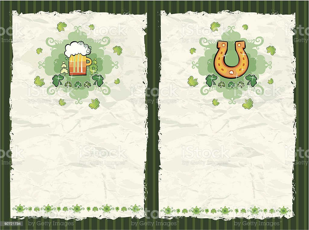 St Patrick's Day textured backgrounds royalty-free stock vector art