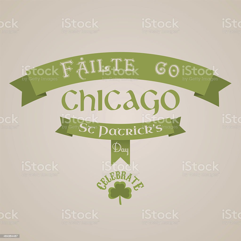 St Patricks day welcome sign royalty-free stock vector art