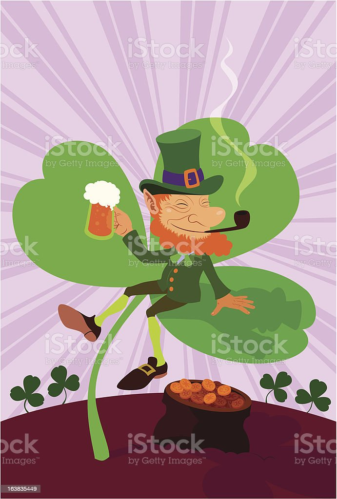 St Patrick's Leprechaun royalty-free stock vector art