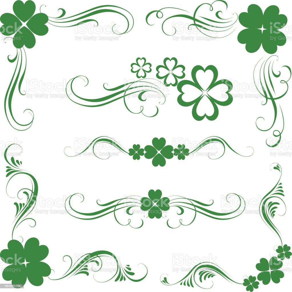 St. Patrick's ornament royalty-free stock vector art