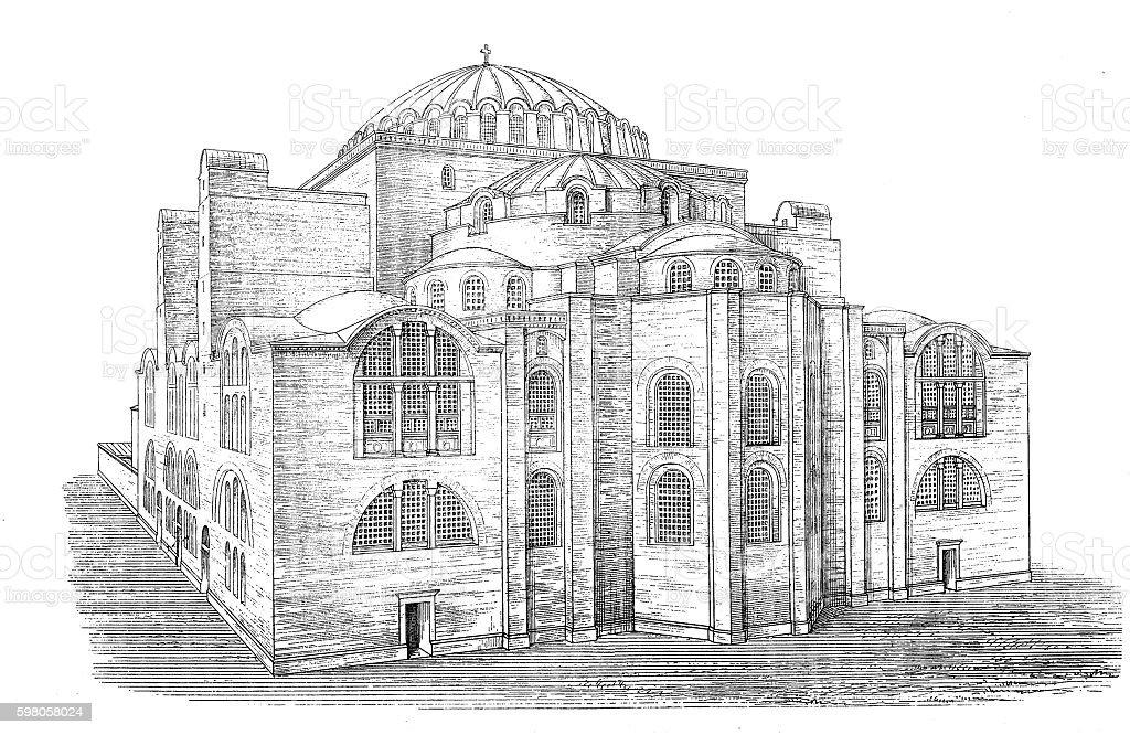St. Sophia Church ,east side vector art illustration