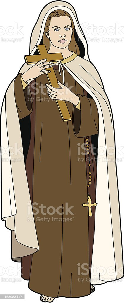 St Therese vector art illustration