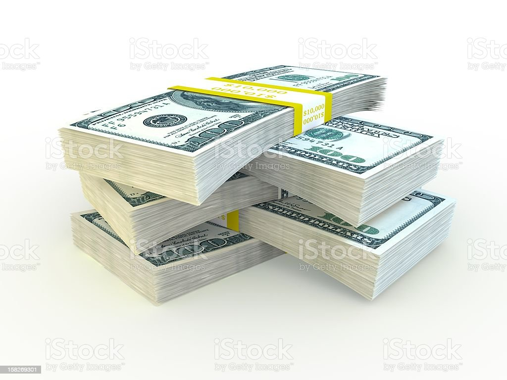 Stack of $100 bills royalty-free stock vector art