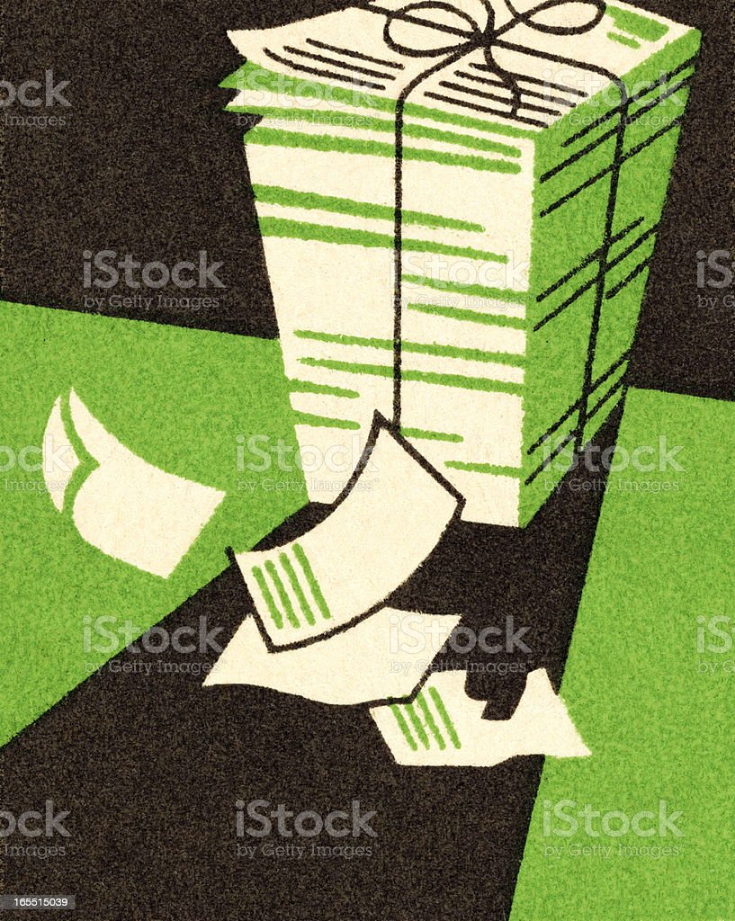 Stack of Papers royalty-free stock vector art