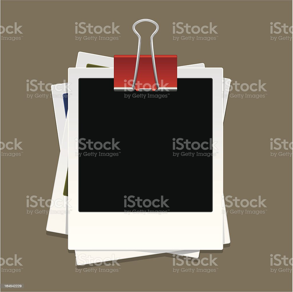 Stack of photo vector art illustration