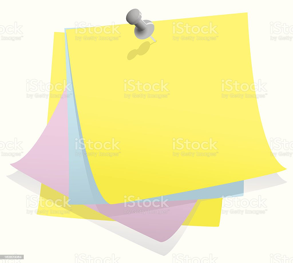 Stack of post it notes royalty-free stock vector art
