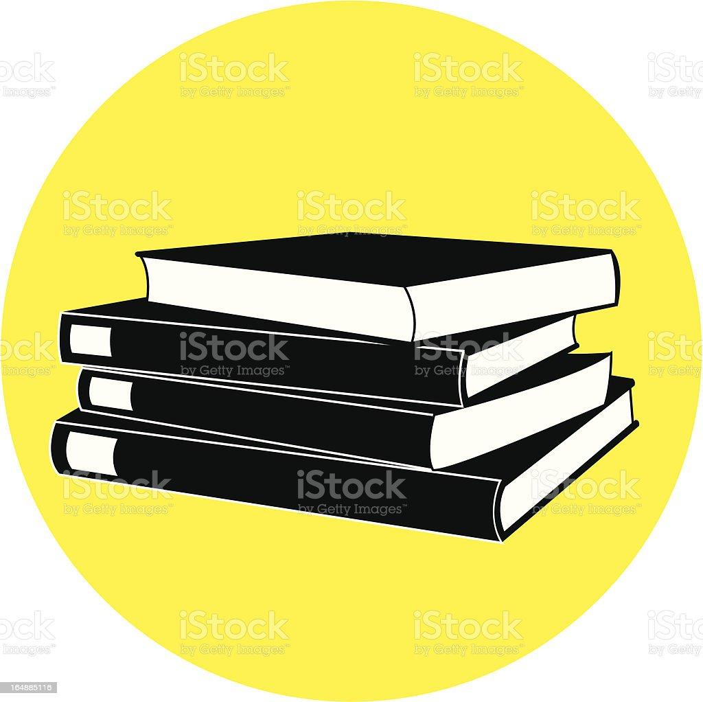 stacked books 3D vector art illustration