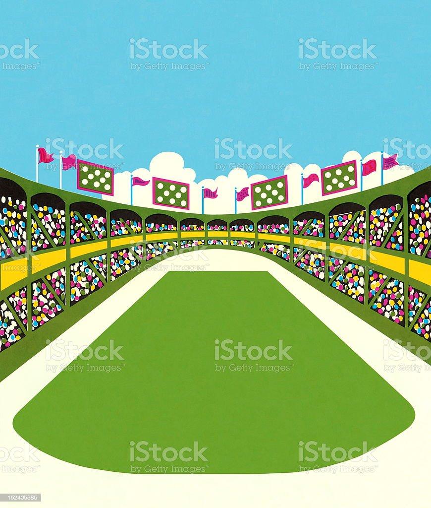 Stadium Full of People royalty-free stock vector art