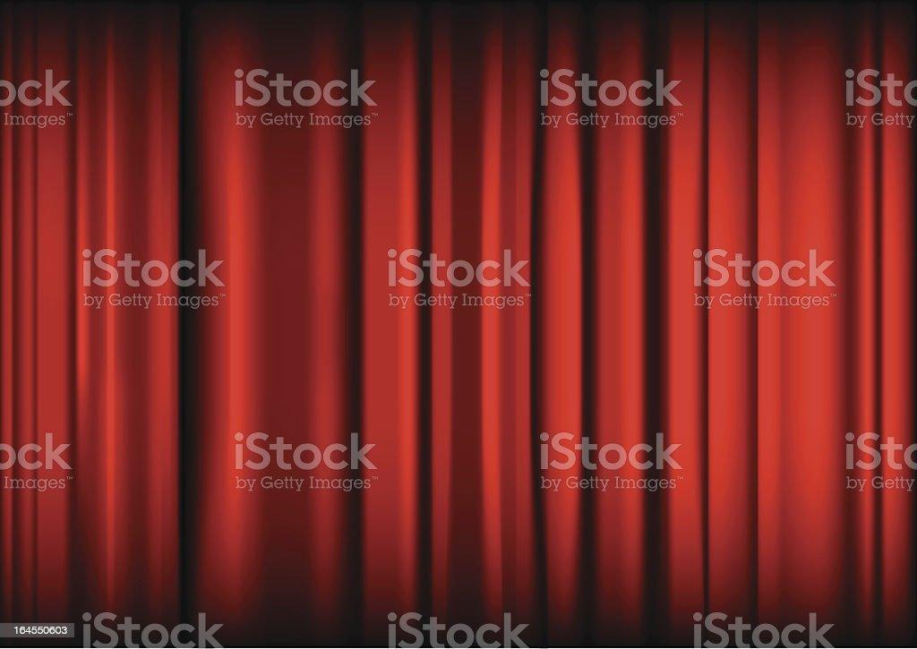 Stage curtain vector art illustration