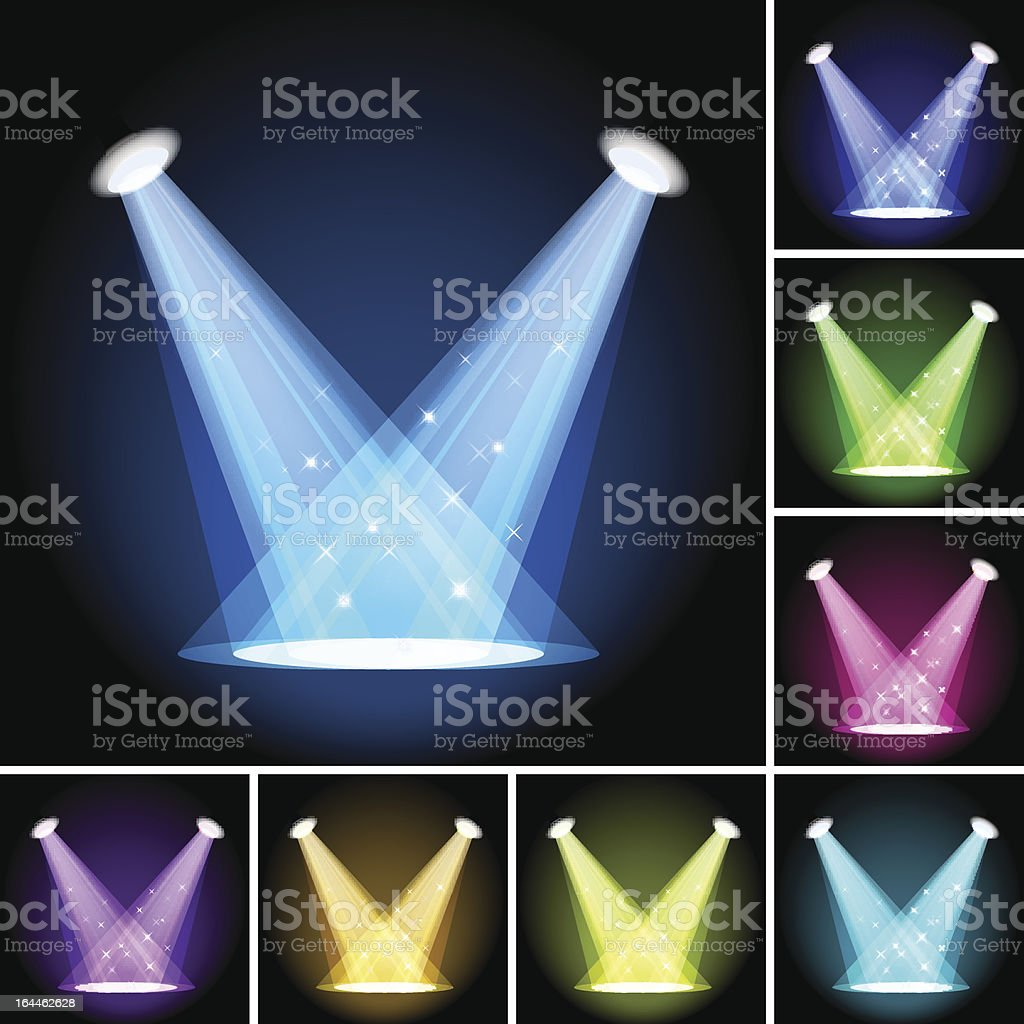 Stage Light vector art illustration