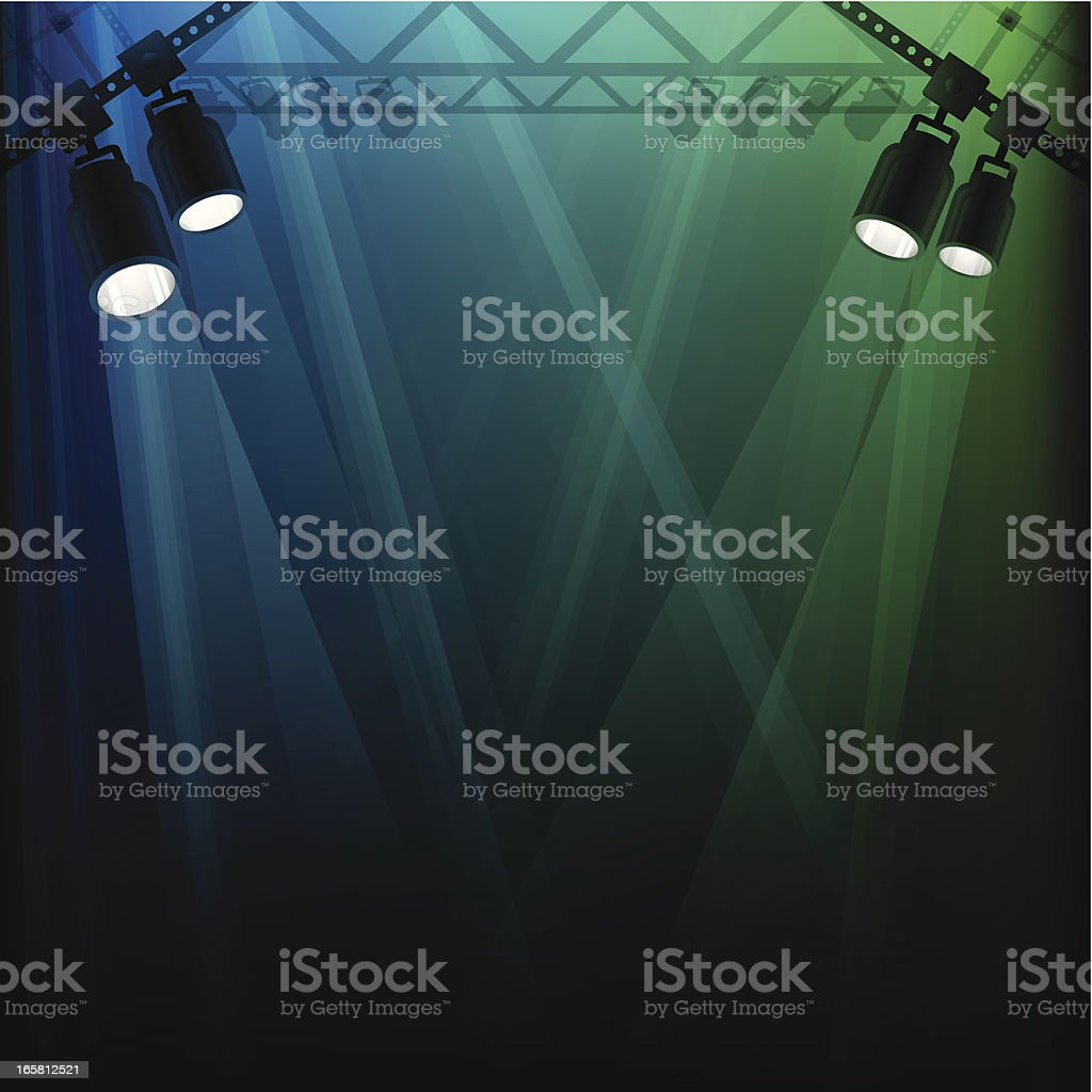 Stage Lights vector art illustration